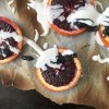 Broiled Blood Orange with Coconut Cream and Black Tahini