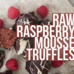 Raw Raspberry Mousse Truffles